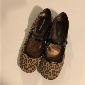 7.5 narrow leopard Naturalizer flats